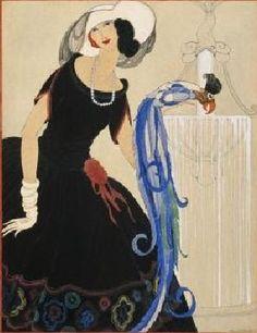 Art Deco Fashion Drawings by Helen Dryden American Artist