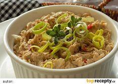 Pomazánka z pečeného vepřového masa recept - TopRecepty.cz Japchae, Grains, Appetizers, Food And Drink, Rice, Treats, Chicken, Cooking, Ethnic Recipes