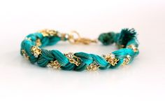 The grown-up version of a friendship bracelet - remember with the embroidery floss?! by Ayofemi Jewelry
