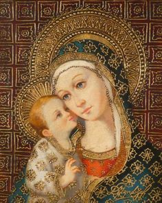 Madonna and Child Divine Mother, Blessed Mother Mary, Blessed Virgin Mary, Religious Pictures, Religious Icons, Religious Art, Jesus And Mary Pictures, Mary And Jesus, Christian Artwork