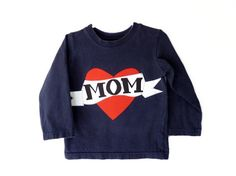 Boy Valentines Day Shirt I heart Mom Tattoo Size 3t by by TNTees, $28.00
