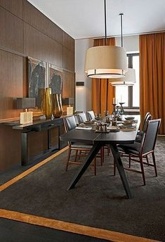 #diningroom | Ambient lighting in a dining room is completely acceptable. At times, it is even encouraged. (Dining room fixtures should always be on a dimmer so that you adjust the level of lighting.) What does not work...