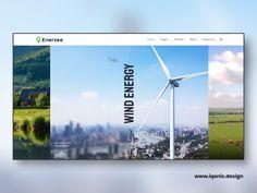 Enerzee - Renewable Energy WordPress Theme by Iqonic Design Wordpress Theme Design, Renewable Energy, Wind Turbine