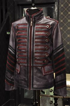 mens steampunk jacket | MILITARY MENS LEATHER STEAMPUNK ROCK DESIGNER JACKET* | eBay