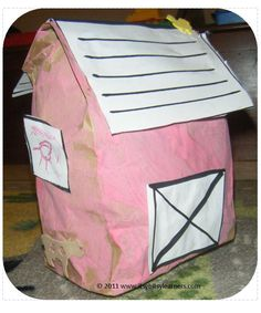 Barn Paper Bag Preschool Craft - itsybitsylearners.com