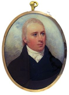 """A Gentleman, believed to be Abraham Newland by William Wood. Mr. Newland is featured in William Wood's fee book. Abraham Newland (1730-1807) the chief cashier of the Bank of Enqland from 1782 to 1807. The expression """"an Abraham Newland"""" came to mean a bank note, because without his signature no Bank of England note was genuine. He slept in the Bank itself for 25 years."""
