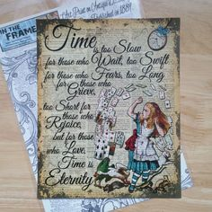 Original ART Print DICTIONARY ANTIQUE BOOK PAGE Alice in Wonderland Upcycled | eBay