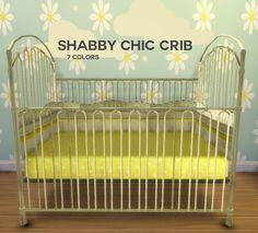Sims 4 CC's - The Best: TS3 Shabby Chic Crib Conversion by BoredSimblr