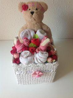 caja blanca osita coqueta para bebe  articulos bebe artesanal