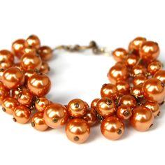 burnt orange pearls