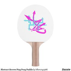 Abstract Arrows Ping Pong Paddle