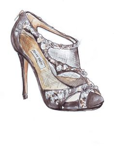 jimmy choo shoe illustration | seven silver sequins.: Jimmy Who? Jimmy Choo, That's Who {idiot}.