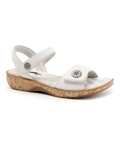 Love this Off-White Bandito Leather Sandal by SoftWalk on #zulily! #zulilyfinds