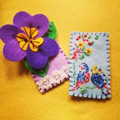 Pretty brooches @Cath Kidston inspired