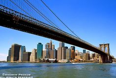 Brooklyn Bridge Span and View of Lower Manhattan - http://andrewprokos.com/photos/new-york/
