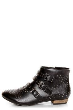 C Label  C Label Elaine 6 Black Studded Ankle BootsLove it!  $59