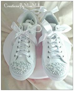 Customised rhinestones and gems converse  Check out this item in my Etsy shop https://www.etsy.com/uk/listing/512156352/customised-converse-rhinestone-converse