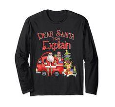 Unisex Comfy Christmas Long Sleeve TShirt Dear Santa I Can Explain Royal Blue Dear Santa, Graphic Sweatshirt, T Shirt, Comfy, Unisex, Sweatshirts, Long Sleeve, Royal Blue, Christmas