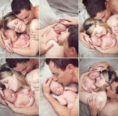 Newborn family shoot - but z and I would wear clothes...