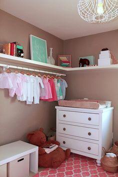 no closet closet idea for kids room
