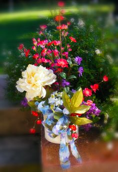 Flower Arrangement Bold Colorful.