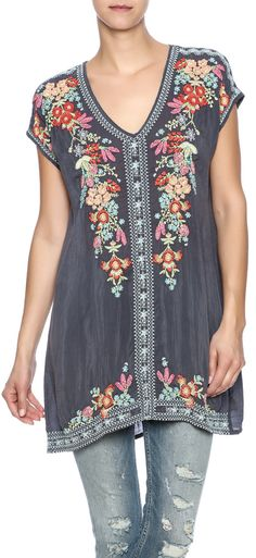 Shop for Embroidered Tunic by Johnny Was at ShopStyle. Now for Sold Out.
