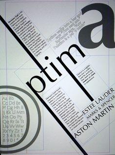 Project II: Type Specimen Poster.   Rebecca Jim