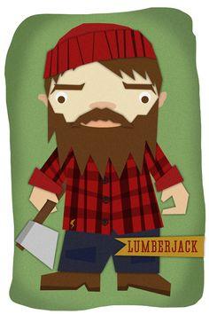 Matt Mills of Nicely Drawn: LumberJack    1st in series of kid's illustrations.