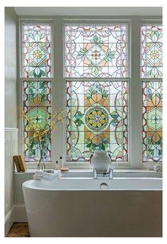 Glass Bathroom Door, Light Bathroom, Room Doors, Window Design, Glass House, Stained Glass Windows, Windows And Doors, Decoration, My Dream Home