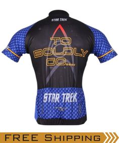 You don't need to be a Vulcan to see that Brainstorm Gear is the logical choice. Designed to provide max performance & comfort under even the most demanding of circumstances. Our high-tech fabric practically beams moisture away, keeping you dry while cooling you down. State of the art dye-sublimation techniques bring you 23rd century graphics and a backdrop bluer than an Andoran's anatomy! Available in Men's and women's sizes and in Command Gold, Science Blue & Engineering Red.