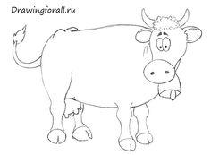 как нарисовать корову для ребенка