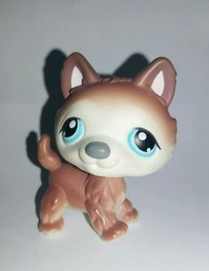 Littlest Pet Shop Dog Brown White Husky Blue Eyes #68 Preowned LPS in Toys & Hobbies, Preschool Toys & Pretend Play, Littlest Pet Shop | eBay