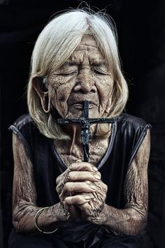 Amazing Grace; these kinds of pictures melt my heart. And this lady reminds me of the Waodani tribe.
