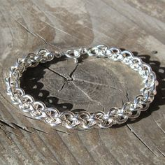 Jens Pind Chain, a spiral 4-1 chain. Free Instructions available on thebeadman.com