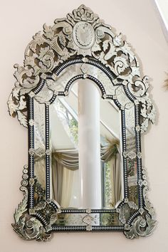 French Beauty Mark Old Mirrors, Ornate Mirror, Vintage Mirrors, French Mirror, Mirror Image, Mirror Glass, Mirror Mirror, Huge Mirror, Mirror Work