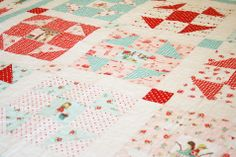 quilt using The Simple Life fabric line.