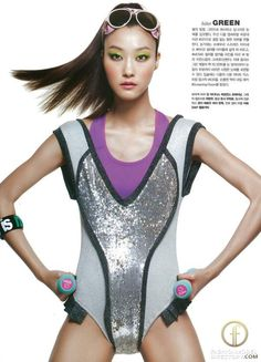 """Ji Hye Park featured in the Marie Claire Korea editorial """"Miss Sporty"""" from May 2012"""
