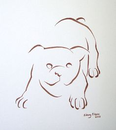 minimal dog drawing