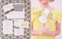 faire part mariage jaune original ,bouquet mariage jaune - http://www.joyeuxmariage.fr/inspiration-details-de-mariage-en-jaune/