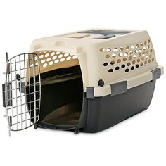You and Me Relaxing Refuge Dog Kennel * Find out more details by clicking the image : Dog crates Airline Pet Carrier, Tool Steel, Pet Carriers, Steel Doors, Plastic Laundry Basket, Pet Supplies, New Homes, Relax, Image Dog