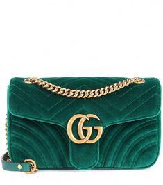 02cb4b3a71cf GUCCI GG Marmont velvet shoulder bag.  gucci  bags  shoulder bags  leather