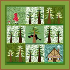 Little Red Riding Hood paper pieced quilt block pattern PDF. $2.90, via Etsy. so cute. need to learn to quilt