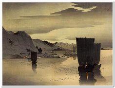 Ohara Koson (Japan,1877-1945)      Evening Sailboats
