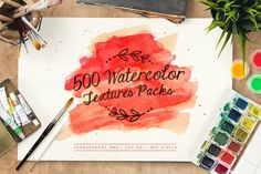 Check out 500 Watercolor Textures Packs by LogoLabs on Creative Market