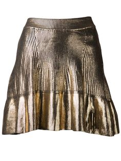 Ohne Titel Metallic Pleated Skirt - H. Lorenzo - Farfetch.com