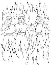 Men In Fiery Furnace Craft Daniel And The Fiery Furnace Coloring Shadrach Meshach And Abednego Coloring Page