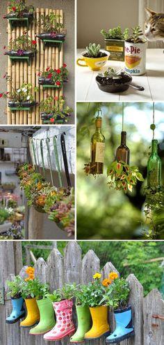 Back Garden Design Back Gardens, Small Gardens, Flower Planters, Flower Pots, Vertikal Garden, Back Garden Design, Backyard Ideas For Small Yards, Succulent Gardening, Diy Plant Stand
