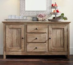 Shop Pottery Barn for expertly crafted dining room furniture. Browse our Benchwright Dining Collection and find wood dining tables, benches, chairs and more. French Furniture, Kitchen Furniture, Cool Furniture, Painted Furniture, Modern Furniture, Furniture Design, Country Furniture, Farmhouse Furniture, Primitive Furniture