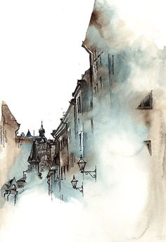 Stockholm, Sweden   Sunga Park creates watercolor paintings of architecture that she admires during her stay in each country