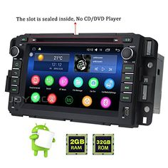 "JOYING 7"" 2GB 32GB Android 6.0 Marshmallow Bluetooth 4.0 Stereo Radio for Chevy Chevrolet Tahoe GMC Yukon Buick Enclave Head Unit Car Audio GPS Navigation Touch Screen Double Din. For product info go to:  https://www.caraccessoriesonlinemarket.com/joying-7-2gb-32gb-android-6-0-marshmallow-bluetooth-4-0-stereo-radio-for-chevy-chevrolet-tahoe-gmc-yukon-buick-enclave-head-unit-car-audio-gps-navigation-touch-screen-double-din/"